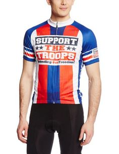 83 Sportswear Mens Support the Troops Cycling Jersey Multi Small -- Check out this great product.(This is an Amazon affiliate link and I receive a commission for the sales)