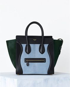 CÉLINE Luggage handbag in Baby Blue (multicolour) | Spring 2014 Leather goods and Handbags collection
