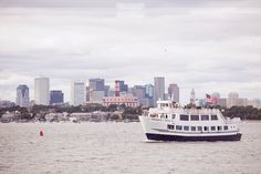 Thompson Island in the Boston Harbor.  This island, like Spectacle, is the coolest and most unique venue for an alternative wedding!  Guests arrive by boat (which in itself is awesome), but the actual space for weddings is beyond beautiful.  With a ceremony site overlooking the Boston skyline, and a covered pavilion for the reception, this venue is perfect for spring, summer, or even a fall wedding!  #thompsonisland #islandwedding #bostonisland #alternativewedding #dreamlovephotography