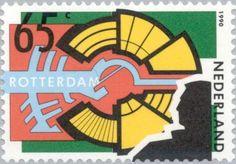 Stamp: The city as stage (Netherlands) (Bombardment of Rotterdam 1940) Mi:NL 1383,Sn:NL 757,Yt:NL 1353,AFA:NL 1385,NVP:NL 1449
