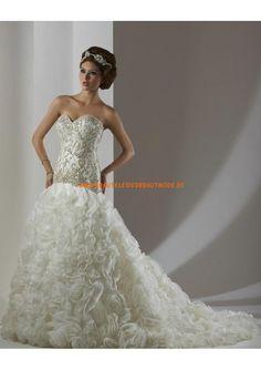 2013 Elegante Brautmode berlin kaufen dramatische Brautkleider aus Organza und Satin Meerjungfrau