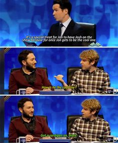 "When Jon played the cardigan card. | 34 Times ""8 Out Of 10 Cats Does Countdown"" Was Almost Too Funny"