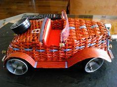 Papierové pletenie auto