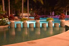 Night at Hacienda Tres Rios, Mexico, Pool #RivieraMaya. I CANNOT WAIT FOR MARCH TO GO BACK!