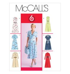 McCall's Patterns Misses'/Miss Petite Dress In 2 Lengths and Bias Sash, Size DD - reading happy Mccalls Patterns, Dress Patterns, Sewing Patterns, Paper Patterns, New Look Patterns, Vintage Patterns, Vintage Outfits, Vintage Fashion, Vintage Style