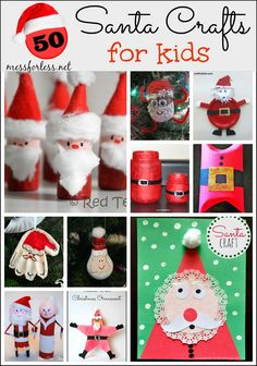 50 Santa Crafts for Kids plus Our Favorite Santa Books | Mess For Less