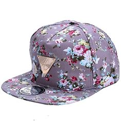 08a92e31d74 Men Women Baseball Cap Hip Hop Caps Floral Flower Snapback Hat Hip-Hop Flat  Adjustable Cap Sun Hats For Boy Girl gorras planas