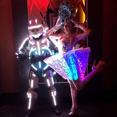 & led dress and led tron dance costume under testing Led Costume, Dance Costumes, Laser Show, Led Dress, Stage Show, Showgirls, Nightclub, Burlesque, Dancer