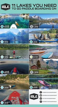 For those of you not by the coast, paddling lakes can be just as exciting (and in some cases more scenic) than paddling on the ocean or a river!