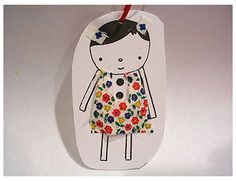 Doll paper doll-print and make a book to embellish, add a bag of fabric scraps and a glue stick! Fun Crafts For Kids, Craft Activities For Kids, Christmas Crafts For Kids, Diy For Kids, Arts And Crafts, Paper Doll Craft, Doll Crafts, Paper Bag Design, Paper Dolls Printable