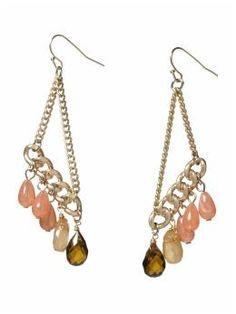 dangle earrings with chunky chain!