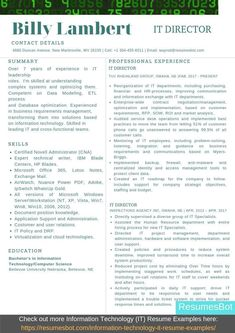 Want to create or improve your Information Technology Director Resume Example? ⚡ ATS-friendly Bot helps You ⏩ Use free Information Technology Director Resume Examples ✅ PDF ✅ MS Word ✅ Text Format Information Technology Humor, Career Information, Education Information, Cover Letter Layout, Cover Letter Sample, Cover Letter For Resume, One Page Resume Template, Resume Template Examples, Templates