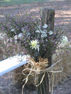Country dried flowers n Mr. Rustic Post @ Margarettaville