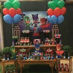 "29 Me gusta, 1 comentarios - Marcia Colonese (@marciacolonesepersonalparty) en Instagram: ""#marciacolonese #personalparty #pjmasks #temasexclusivos #mesapjmasks #festapjmasks #buffettragaluz…"""