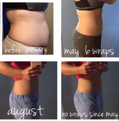 When people wonder if our wraps work! Here is your proof  And as you see, the result from the wraps are not temporary