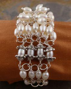 Bohemian pearls #bracelets #pearls