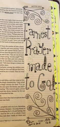 Easy Bible Art Journaling Journey: Acts 12:5 (April 6th)