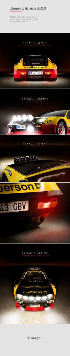 Renault Alpine A310 by Albert Palahí Baldó, via Behance. http://www.behance.net/albertpalahi