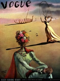 Salvador Dali's cover for Vogue's June 1939