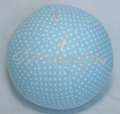 Your place to buy and sell all things handmade Polka Dot Fabric, Blue Polka Dots, Balloon Birthday, The Balloon, Michelle Obama, Folded Up, Easter Baskets, Fabric Design, Party Favors
