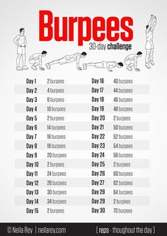 30 day burpees