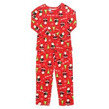 She's sure to have pleasant dreams about the holidays in these Santa themed pajamas from Sara's Prints. Toddler Pajamas, Holiday Pajamas, Double Ruffle, Tree Print, Ribbon Bows, Lettuce, Cuffs, Santa, Christmas Tree