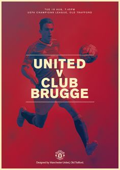 Match poster. Manchester United vs Club Brugge, 18 August 2015. Designed by @manutd