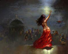 Artist and fantasy illustrator Charles Keegan. Dark Fantasy, Fantasy Art, Halloween Imagem, Dancing Drawings, Tribal Dance, Sword And Sorcery, Classic Paintings, Soul Art, Dance Art