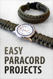 "Easy Paracord Projects | http://paperloveanddreams.com/book/433040432/easy-paracord-projects | ""Easy Paracord Projects"" gives you the complete step-by-step instructions for 20 different paracord projects. Learn to make survival bracelets, watchbands, a dog collar and much more. All projects come from Instructables.com, are written by our creative community, and contain pictures for each step so you can easily make these yourself."