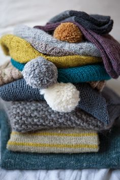 I just want to  bury my face in this pile of knits...