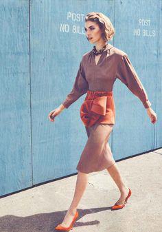 Photographer: Lachlan Bailey Magazine: Vogue UK Date: August, 2011 Stylist: Miranda Almond Model: Arizona Muse Mad Men Fashion, Bold Fashion, Fashion Shoot, I Love Fashion, Timeless Fashion, Editorial Fashion, Vogue China, Vogue Uk, Fashion Sites