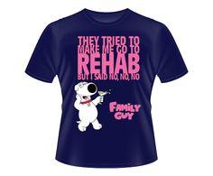 Camiseta Brian Griffin Rehab  http://www.vitrinepix.com.br/ants/compre/produto/345125/Camiseta-Tradicional