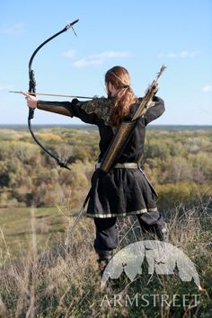 Archery Quiver Leather Longbow Knight of the West