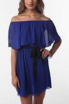 Sparkle & Fade Chiffon Ruffle Dress  #UrbanOutfitters
