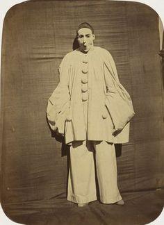 Nadar (Gaspard-Félix Tournachon), Adrien Tournachon. Pierrot Surprised. 1854