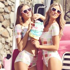 heart shaped sunnies and cotton candy!