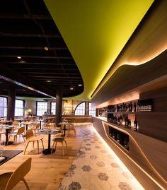 Design Firm LAVA Have Designed Olio A Sicilian Restaurant In Sydney That Uses Recessed