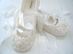 Ivory Ballet Flats Wedding Shoes Bridal
