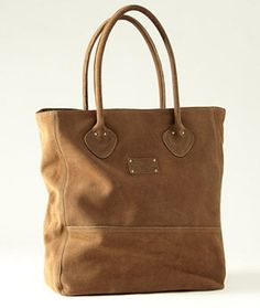 LL Beans Heritage Nubuck Tote -- it looks yummy!