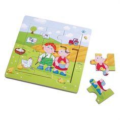 Meget fint puslespil i ramme. Der er billede af det færdige motiv indeni rammen og kanter, som hjælper det lille barn. Hurtig dag-til-dag levering.
