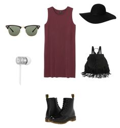 """Untitled #92"" by alexandragabriela2 on Polyvore featuring Monki, Dr. Martens, Ray-Ban and Beats by Dr. Dre"