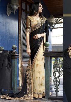 NEW IN SAREES : SHOP NOW @ www.lushika.com SKU NO: NAK-4048  #new #collection #sarees #indiansaree #designersaree #onlineshoppping #lushika #black #ethnicwear #shopnow #style #latestsaree #trend #partywear #wedding #bridalwear #india