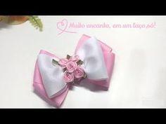 Laço Tulip   Tulip #Ribbon Bow   DIY by Elysia Handmade - YouTube
