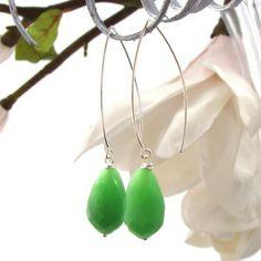 Oorbellen groene edelstenen 1