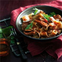 Duck Ragu with Pappardelle - Woolworths Mushrooms and pancetta Looks ...