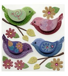 Pretty bird embellishments can be used for paper crafts, cards and much more!