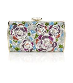 Judith Leiber Seabreeze Avenue Pattern Crystal Minaudiere ~ her bags are works of art!!!