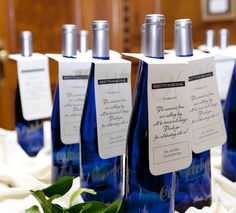 Wine Bottle Hang Tag Place Cards