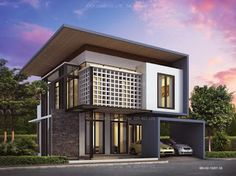 Small 2 story modern house plans