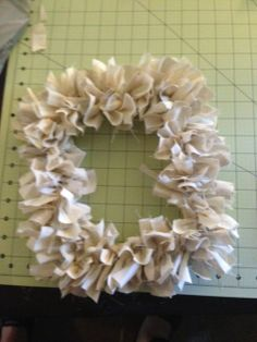 Used frames from the dollar tree as the form for this wreath!